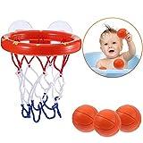Teaffiddyy Bath Toy Fun Basketball Hoop & Balls Set for Boys and Girls- Kid &...