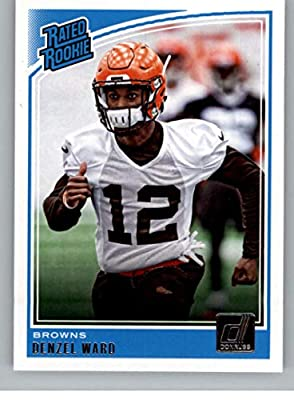 2018 Donruss Football #348 Denzel Ward RC Rookie Card Cleveland Browns Rated Rookie Official NFL Trading Card