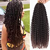 7Packs/Lot Passion Twist Crochet Hair Braids 18Inch Bohemian Hair for Passion Twist Ombre Dark Brown Water Wave Crochet Synthetic Braiding Extensions (T30#)