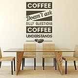 Calcomanías de pared de café palabras de comida y bebida arte mural vinilo pegatinas de ventana cafetería cafetería restaurante decoración interior creativa