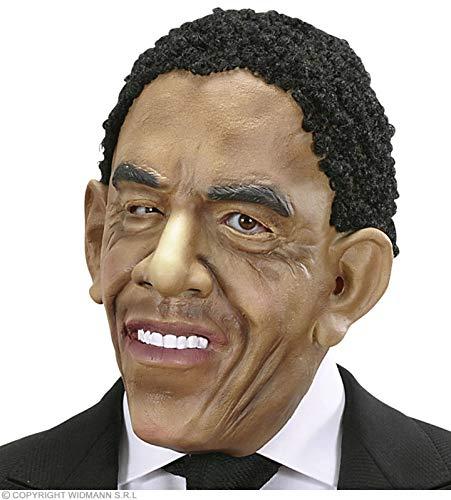 Widmann USA Barak Obama Präsident Masken mit Perücke für Kostüme & Outfits Zubehör