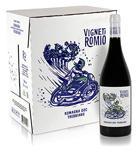 Vigneti Romio 1005521 Romagna Doc Trebbiano - Confezione Da 6 Bottiglie