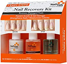 Nail Tek Nail Recovery Kit, Cuticle Oil, Strengthener, Ridge Filler - Restore Damaged Nails in 3 Steps