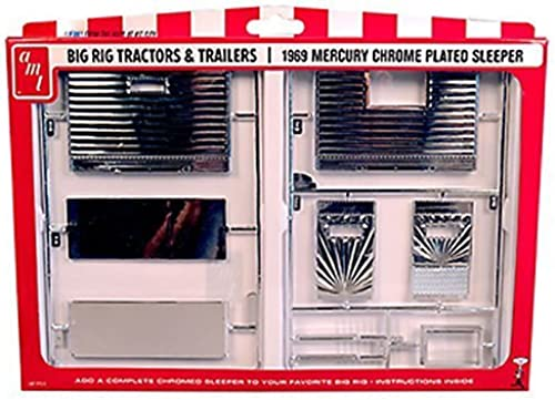 1 251969Meercury Semi Truck Chrome Sleeper par AMT