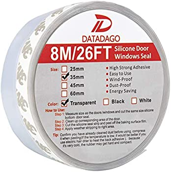 D Datadago 8M/26ft Bottom Silicone Seal Door Strip
