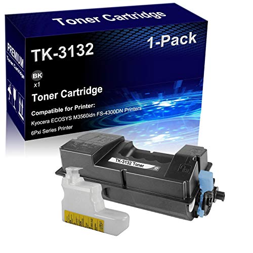 1-Pack (Black) Compatible High Yield ECOSYS M3560idn FS-4300DN Laser Toner Cartridge Replacement for Kyocera TK-3132 TK3132 Printer Cartridge