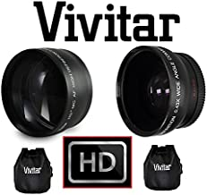 Telephoto + Wide Angle Lens Set For Samsung NX2000 NX300 NX1100 NX1000 (40.5mm Compatible For 20-50mm Lens)