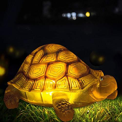 Solar-Schildkröte, Außenbeleuchtung, Gartendekoration, Tierstatue für Rasen, Hof, Garten