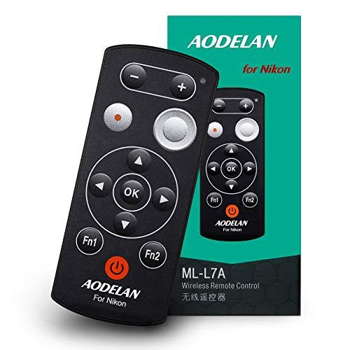 AODELAN Kamera Fernbedienung - Kabellose Fernauslöser für Nikon Z50 COOLPIX B600 A1000 P1000 P950; ersetzt Nikon ML-L7