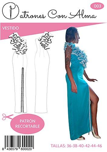 Patrón Vestido Fiesta Mujer Turquesa (44)