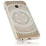 mumbi Funda Compatible con Samsung Galaxy A3 2017 Caja del teléfono móvil Avec Motif Mandala, Transparente