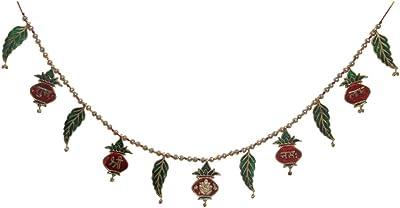 Handicrafts ParadiseDoor Hanging Bandhanwar in Metal shubh labh and Shree gan.