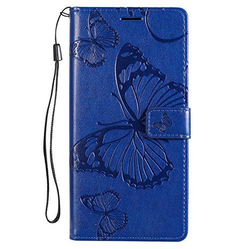 Hülle für Nokia 2.4 Handyhülle Schutzhülle Leder PU Wallet Bumper Lederhülle Ledertasche Klapphülle Klappbar Magnetisch für Nokia 2.4 - ZIKT043146 Blau