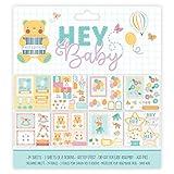 First Edition 2018 - Material de papelería de Paper Collections, Colección Hey Baby, papel, multicolor, 8x8' Decoupage Pad