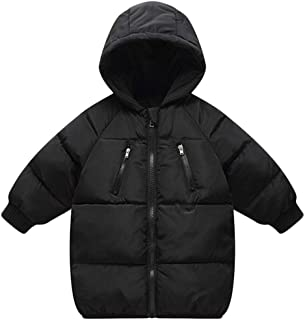LANBAOSI Baby Boys Girls Winter Coat Toddler Kids Warm Hooded Jacket Outerwear