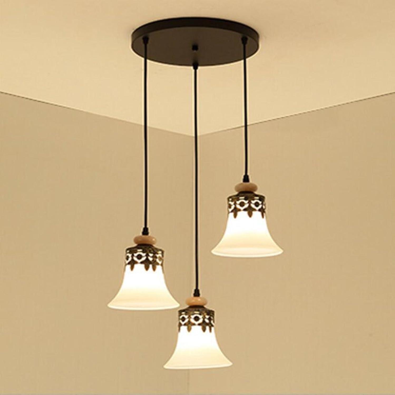 Lumières de restaurant de lustre de LED, lustres trois, lustre créatif simple de lustre d'art de barre (Couleur    1)