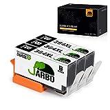 JARBO Remplacer pour HP 364 XL Cartouche d'encre (3 Noir) Grande capacité Compatible...
