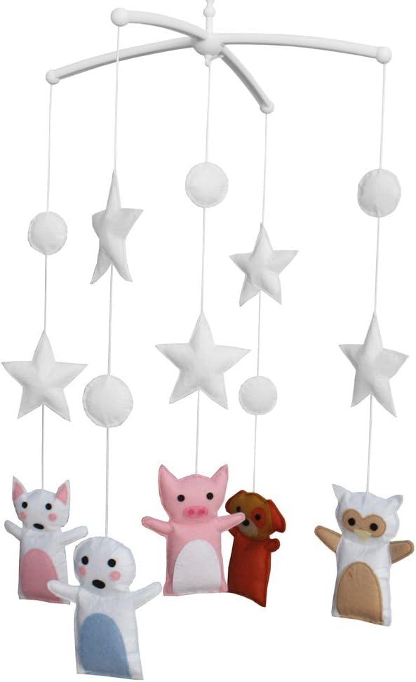 Panda Legends Handmade Cute Max 65% OFF Pig Baby Crib Mobile Dog Musica low-pricing