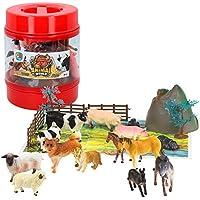 ColorBaby -  Bote con animales de granja de Animal World, 22 piezas(43434)