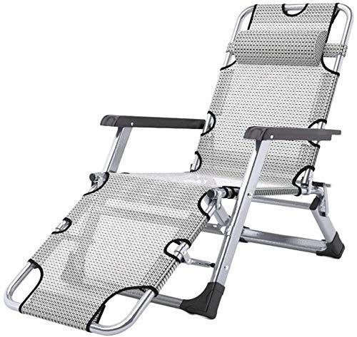 OESFL Sillas reclinables Plegable al Aire Libre con Acolchado, Ajustable for Trabajo Pesado Plegable Patio Silla reclinable, 440lbs de Apoyo (Color : B)