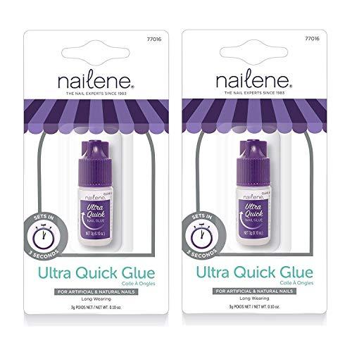 Nailene Ultra Quick Nail Glue (Pack of 2)…