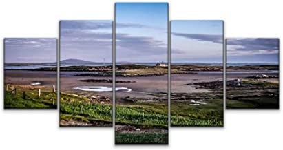 Night in U.S Canvas Art Wall carinish Panoramic Dusk North uist Outer hebrides Highlands Scotland Paintings Vintage Prints...