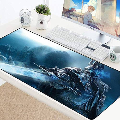 Gaming Mouse Pad Große Mauspad World of Warcraft Wow Hearthstone Spielmatte Tastatur Erweiterte Mousepad for Computer PC-Mausunterlage (Color : Arthas Menethil, Size : 700 * 300 * 3mm)