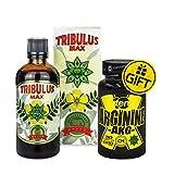 Cvetita Herbal Bulgarian Tribulus Max + Gift Arginine AKG/suero de extracto líquido natural, refuerzo de testosterona, ganancia muscular, mejora la masa muscular, refuerzo de testosterona