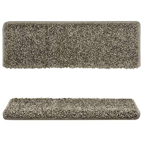 Bulufree Familia de materiales de polipropileno gris juego de alfombrilla de escalera práctica de 15 piezas, alfombra de escalera interior de estilo moderno juego de 15 piezas 65x25 cm (largo x ancho)