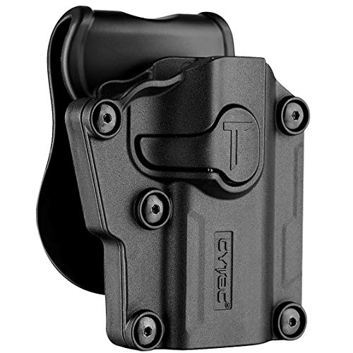 Polymer Universal OWB Holster for Berreta APX / CZ 75 / Ruger Security9 - Compact & Full Size Pistol Carrier | Index Finger Released | Adjustable Cant | Autolock | Outside Waistband | Right Handed
