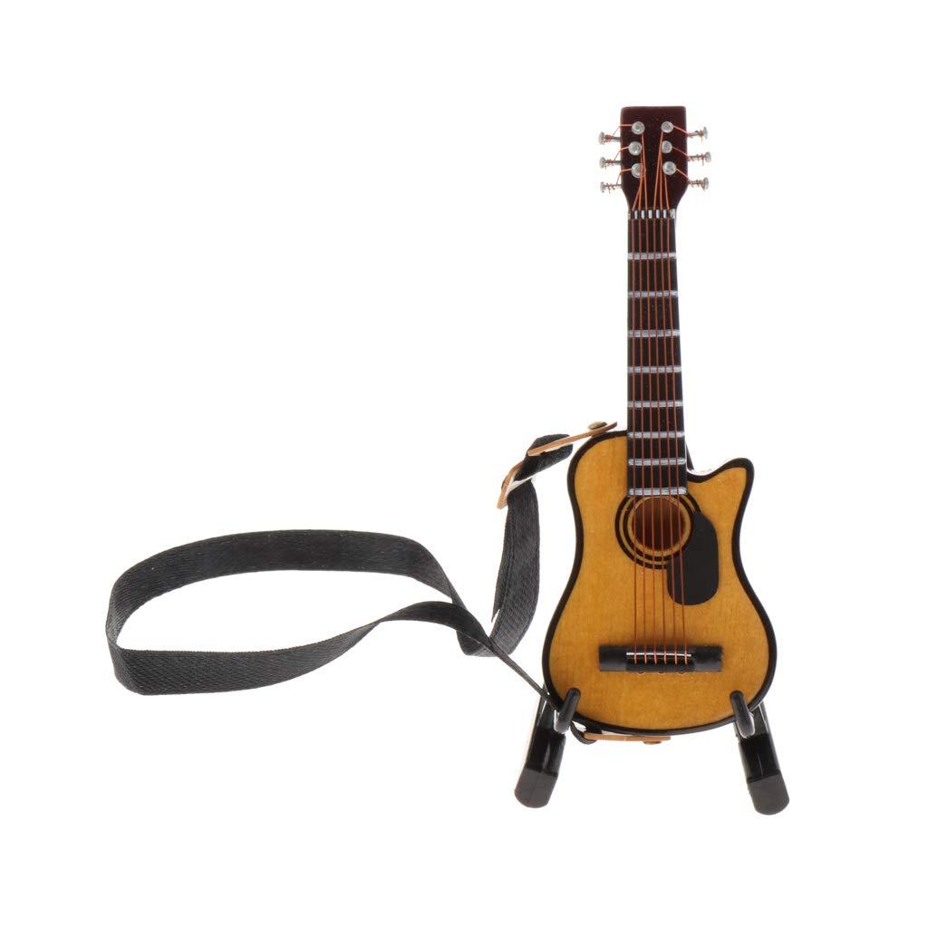 Amazon.es: Juego De Instrumentos Musicales Dollhouse - Guitarra De Madera con Estuche Y Soporte, Decoración De Accesorios De La Casa De Muñecas Fairy Gar: Juguetes y juegos