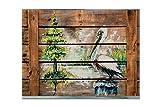 tesori dell' Caroline MW1215PLMT estate al lago bianco Pelican tovaglietta in tessuto, multicolore