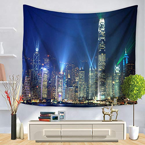 AdoDecor Metropolis New York Empire State Building Art High Definition Decorative Tapestries Room 150x170CM
