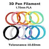 Filamenti PLA 1,75mm per Penna 3D Fede, Filamenti Stampante 3D 16 Colori e Ogni Colori di 5 Meteri, 80 Metri in totale.