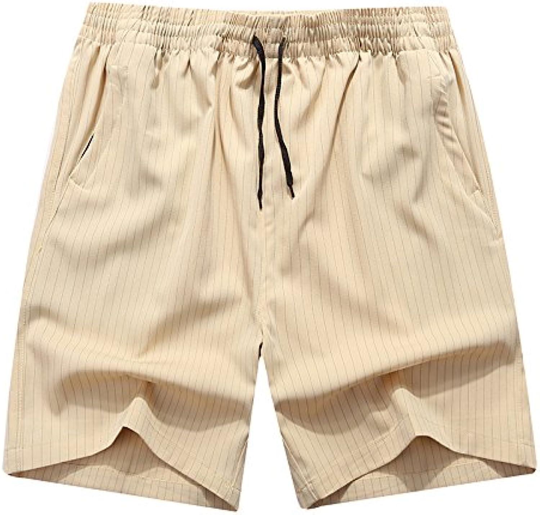 WDDGPZDK Strand Shorts Mnner Gestreifte Sommer Shorts Fashion Mens Passen Strand Casual Male Sportswear Atmungsaktive Hose 7 XL