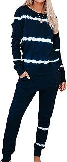 Inlefen Soft Pajama Set Casual Comfortable Women's Two-piece Homewear