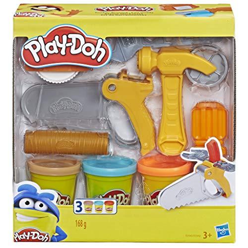 Hasbro Play-Doh- Play-Doh Set di Attrezzi, Accessori Assortiti con Vasetti di Pasta da Modellare, Colore, E3342EU4