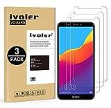 ivoler [3 Unidades] Protector de Pantalla para Huawei Honor 7C / Huawei Y7 2018 / Huawei Y7 Prime 2018 / Huawei Y7 Pro 2018, Cristal Vidrio Templado Premium