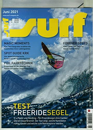 """Surf 6/2021 \""""TEST FREERIDESEGEL\"""""""