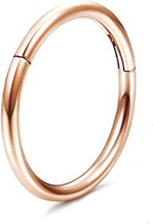 Underleaf Stainless Steel Nose Septum Hoop Hinged Ring Cartilage Hoop Body Piercing Jewelry Tiny Ear Lip Ring