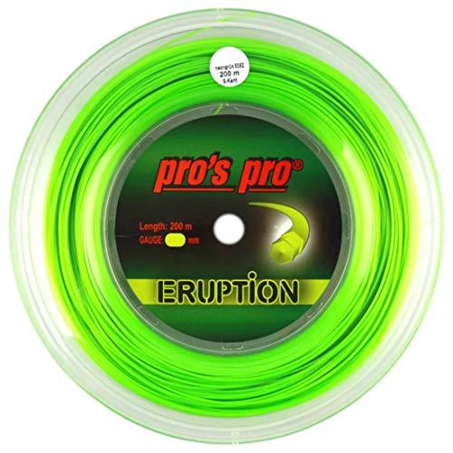 P3 International Pros Pro Eruption Cordaje de Tenis - 200m Rollo - 1.30mm - Verde