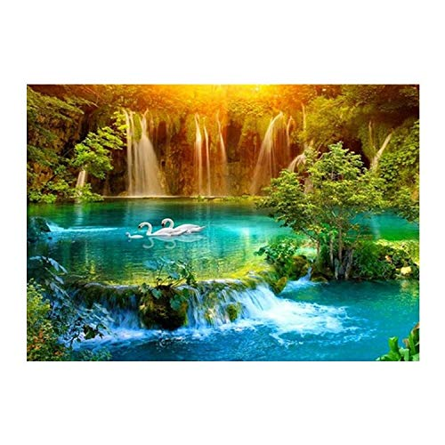 ZXXGA DIY 5D Diamond Painting,Paisaje De Cascada Diamond Painting 40X50Cm,Taladro Completo Diamante Bordado Kit Decoración Pegatinas De Pared