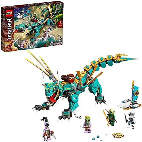 LEGO NINJAGO Dragone della Giungla, Costruzioni per Bambini 8+ Anni con 4 Minifigure, Ninja Lloyd e Zane, 71746