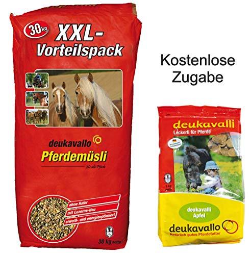 Deukavallo Pferdemüsli XXL + Zugabe Apfel