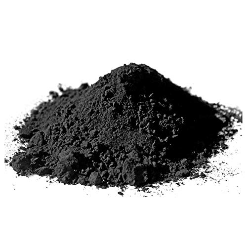 @tec Pigmentpulver, Eisenoxid, Oxidfarbe - 100g im Beutel Farbpigmente, Trockenfarbe für Beton, Epoxidharz + Wand - Farbe: schwarz/black