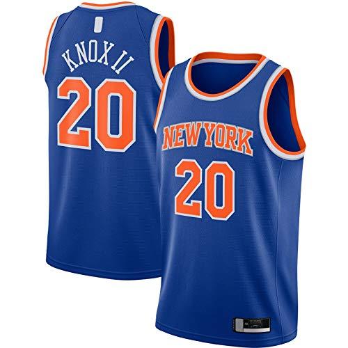 Camiseta de baloncesto Kevin York Ropa de manga corta Knox II Custom Knicks Cómodo #20 2020/21 Swingman Jersey Azul - Icon Edition-L