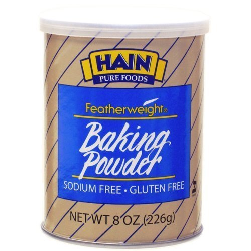 Hain Baking Powder, Gluten Free, Sodium Free, 8 oz (Pack of 2)