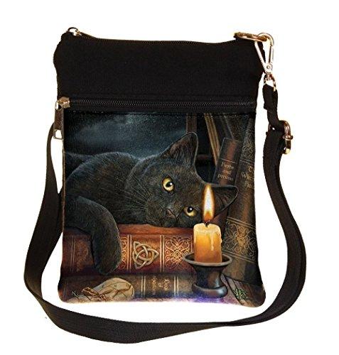 Nemesis Now Witching Hour Lisa Parker Schultertasche 23 cm Braun PU Canvas Einheitsgröße