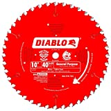 Freud D1040X Diablo 10-In 40-Tooth ATB General Purpose Saw Blade with 5/8-Inch Arbor and PermaShield Coating 2 PACK