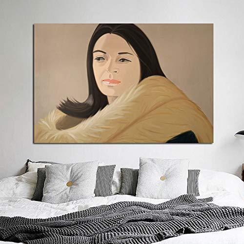 KWzEQ Frauenwandkunst-Leinwandplakate und -drucke für Hauptdekoration im Bürowohnzimmer,Rahmenlose Malerei,30x45cm